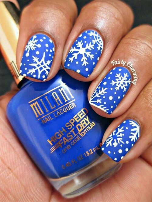 Snowflake Nail Art And Design Easy Step By Step Tutorial