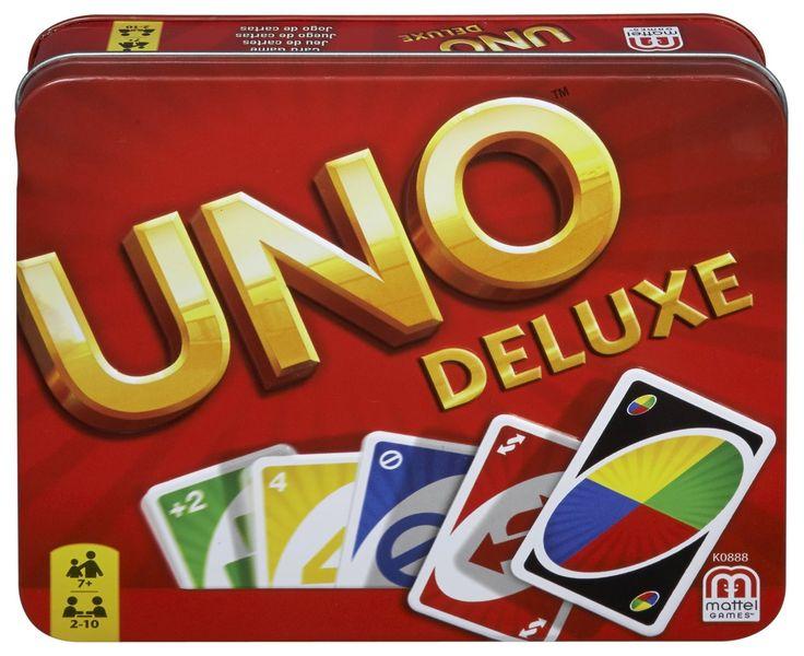 Mattel Uno Deluxe - Card Game (53610)  Manufacturer: Mattel Barcode: 5011363536100 Enarxis Code: 016136 #toys #Mattel #boardgames #Uno #card