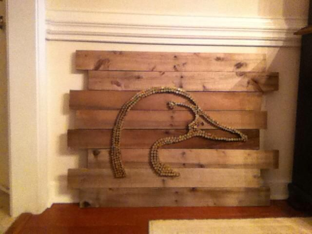 DIY Bullet Casing Ducks Unlimited Wall Hanging on reclaimed wood