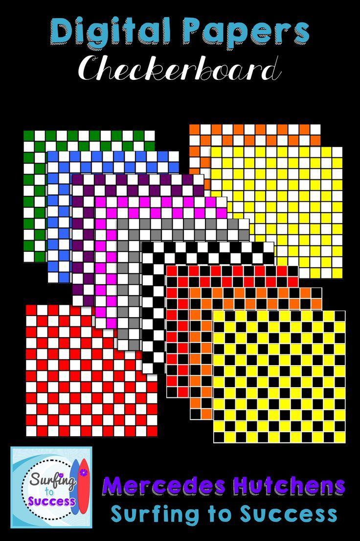 Checkerboard Backgrounds Basic Colors Coordenação motora