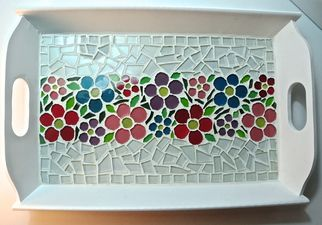mosaic tray sample can be basic or intricate depending on students age...younger set can use paper and mod podge