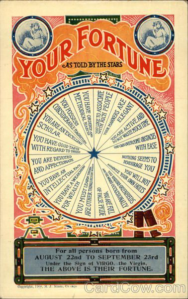 Your Fortune As Told by the Stars For all persons born from August 22nd to…