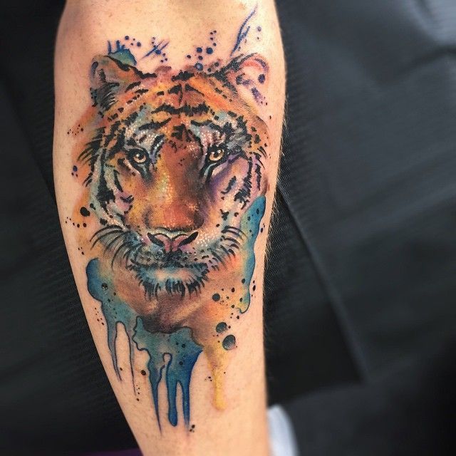 Vibrant Tattoos Capture Carefree Fluidity of Watercolor Paintings - My Modern Met