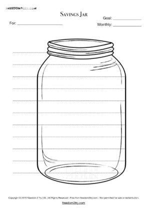 It is an image of Candid Savings Jar Printable