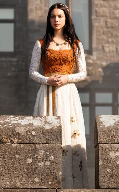 Mary Queen of Scots (Adelaide Kane), Reign. I'm obsessed with this show, the fashion, and the hairstyles featured.
