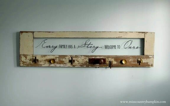 #slavaged #antique #door made into a coat rack! #vintage #upcycled #upcycle #repurposed #rustic #bohemian #decor #repurpose #salvagedwood #sign #quote #family www.misscountrybumpkin.ca