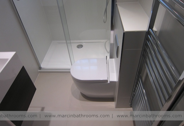 luxury small bathroom with shower