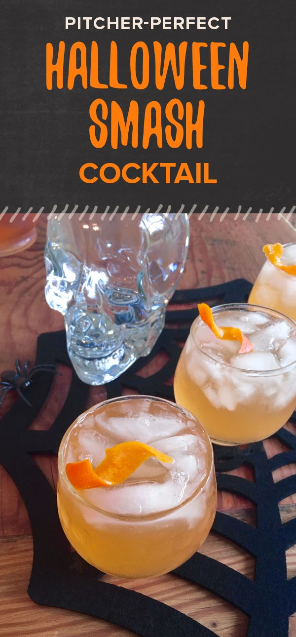 Make this orange halloween party pitcher cocktail for a for Pitcher drink recipes for parties