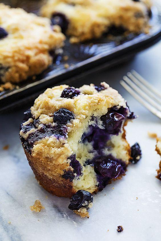 Blueberry crumb muffins. YUM.