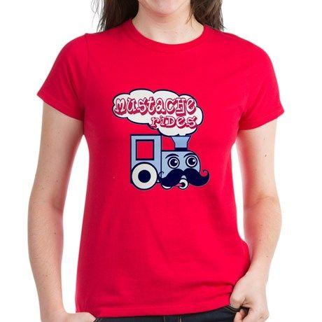 Mustache Rides T Shirt  #mustache #mustacheride #train #cartoon #comic #illustration #funny #humor #innuendo #jokes #wtf #shirts #women