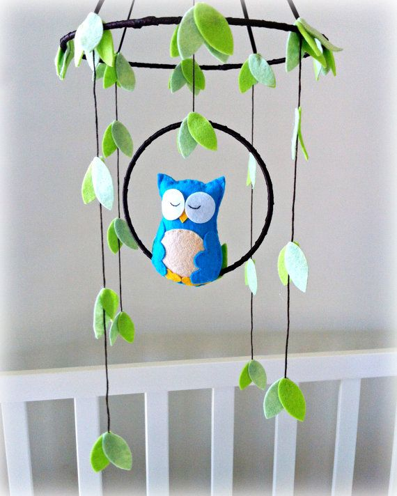 Hey, I found this really awesome Etsy listing at https://www.etsy.com/listing/183292555/owl-mobile-woodland-baby-mobile-pick