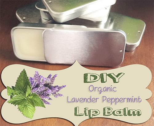 Organic Lip Balm Recipe - with Lavender Peppermint Essential Oils.  All natural and easy to make.: