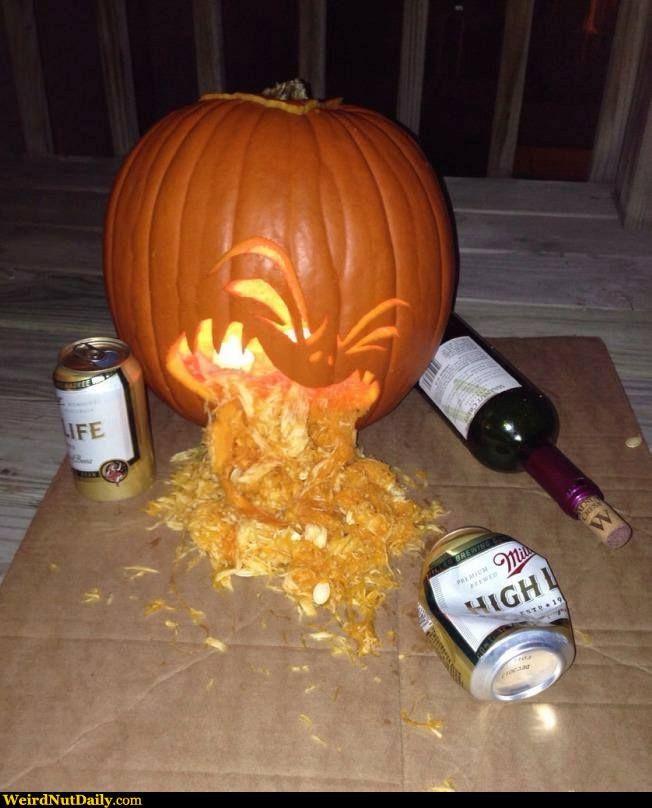 pumpkin throwing up beer - Google Search