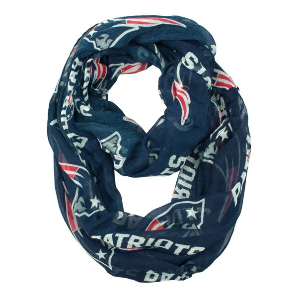 Little Earth Productions New England Patriots Sheer Infinity Scarf at The Paper Store