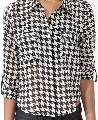 Houndstooth shirt similar to this one. Thrifted in February 2013. Currently out of rotation since I need to have the sleeves shortened.