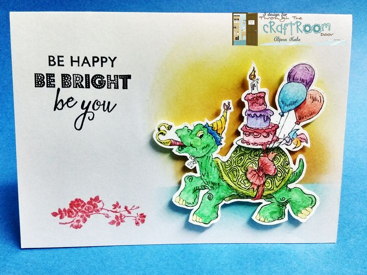 Handmade card, turtle card