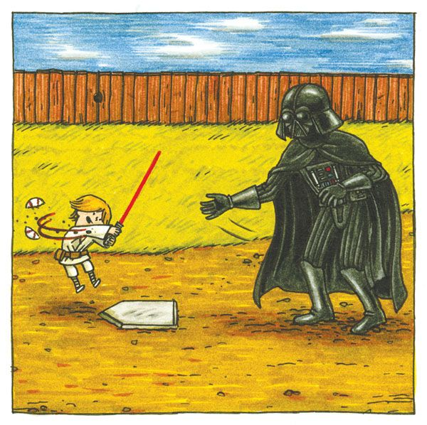 """""""Darth Vader and Son"""", by Jeffery Brown.     http://www.chroniclebooks.com/titles/darth-vadertm-and-son.html"""