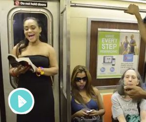 "The Lion King Broadway Cast Sings ""Circle of Life"" On The Subway"