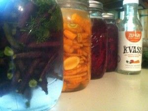 fermented foods:   green beans, beets and carrot recipes