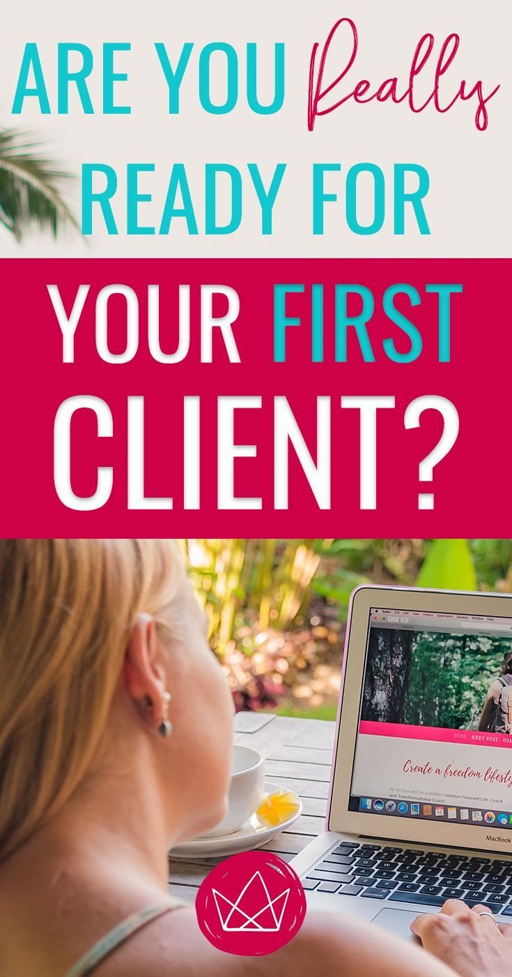 Could not being ready for clients prevent you from getting clients? It's tricky enough to train your mind to feel READY. Imposter syndrome, anyone? If you're literally not ready because you haven't prepared anything, your subconsciousness will VERY likely
