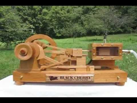 Black Cherry Wooden Air Engine - YouTube