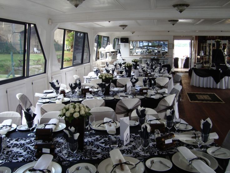 Corporate Dining aboard the luxury Spirit of Jen, the biggest and fastest river cruiser on the Vaal River