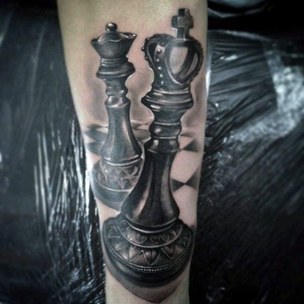 60 King Chess Piece Tattoo Designs For Men - Powerful Ink Ideas