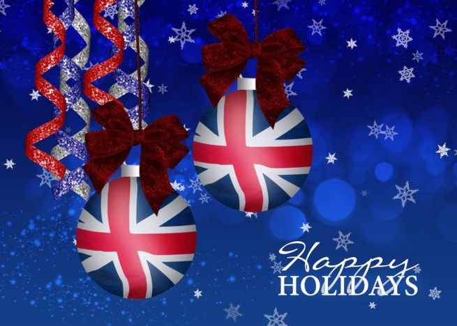 Patriotic Uk Flag Ornament Holiday Card With Streamers Card Ad Sponsored Flag Ornament Pa Patriotic Christmas Cards Patriotic Christmas Holiday Cards
