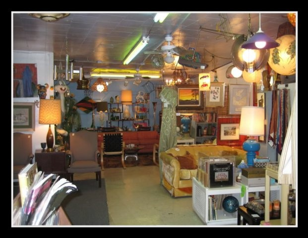 Room Service Vintage is crammed floor to ceiling with 50's, 60's, and 70's furniture, jewelry, decor and more. Just try walking out of there without something. Try it.