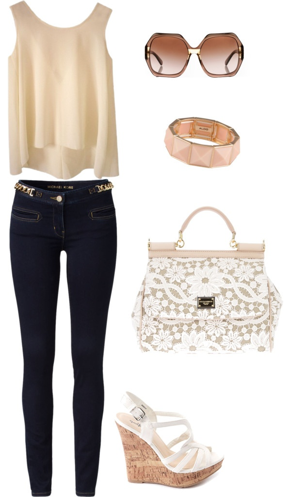 """""""Classy Neutral Spring outfit!"""" by keraashley on Polyvore. I would wear this with a tan leather jacket and some combat boots"""