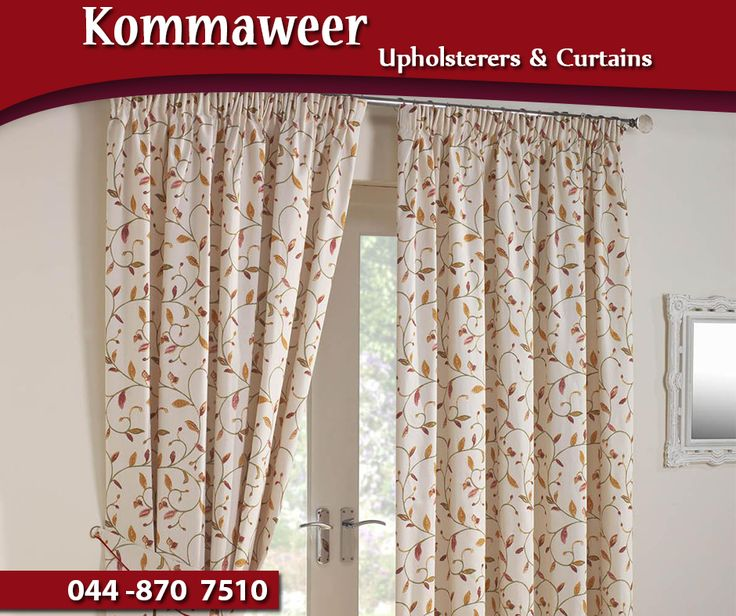 Create the atmosphere you desire with tailor made curtains from #Kommaweer. Contact us on 044 870 7510. #curtains #decor