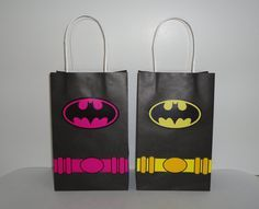 Instant Download Batman & Batgirl Favor Bag DIY -Batman Goody Bags/ Party Bags/ Goodie Bags, Batman Birthday Favors, Batman Candy/Treat bags by CreativePartyStudio on Etsy
