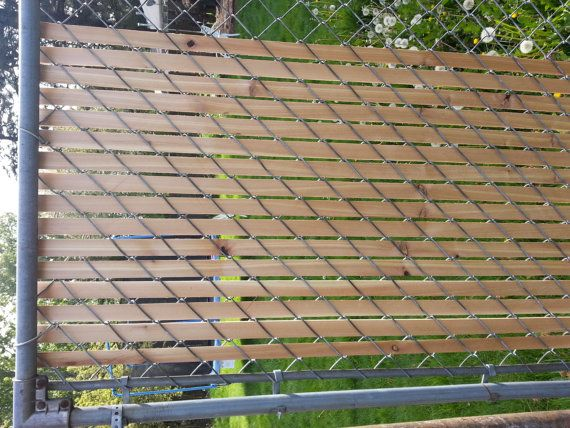 Chain Link Fence Privacy Panels