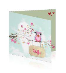 hip-geboortekaartje-meisje-lief-vogel-steffie