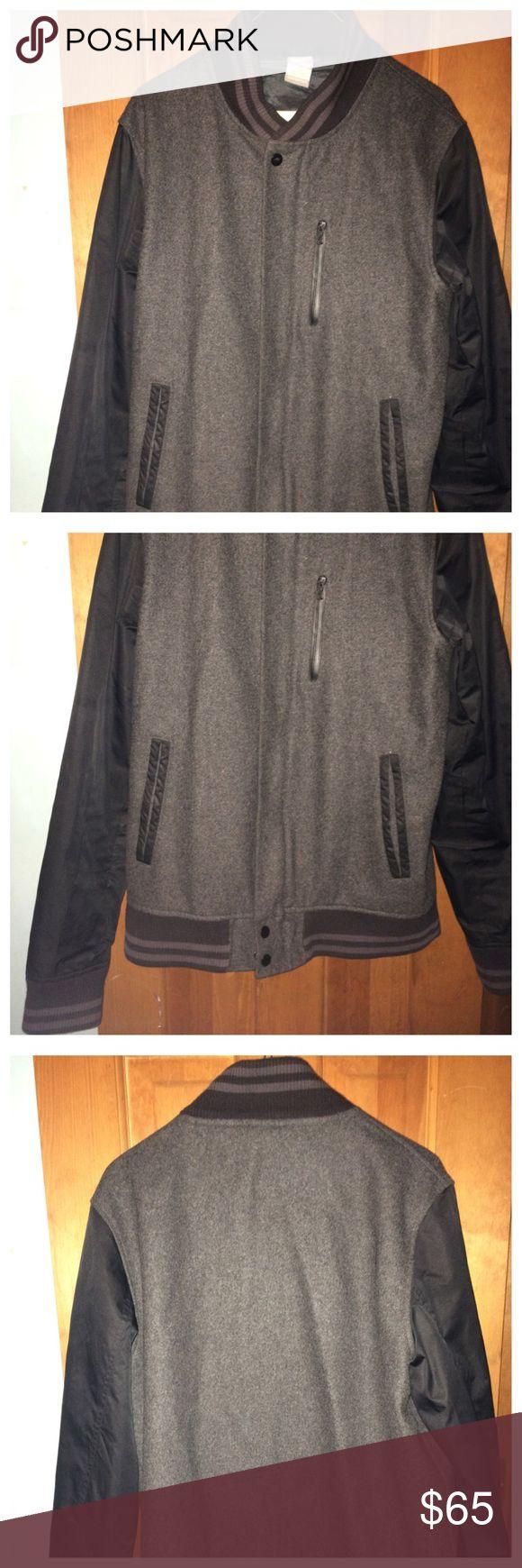 Nike varsity jacket Used gently worn good condition.. no marks rips or stains Nike Jackets & Coats Bomber & Varsity