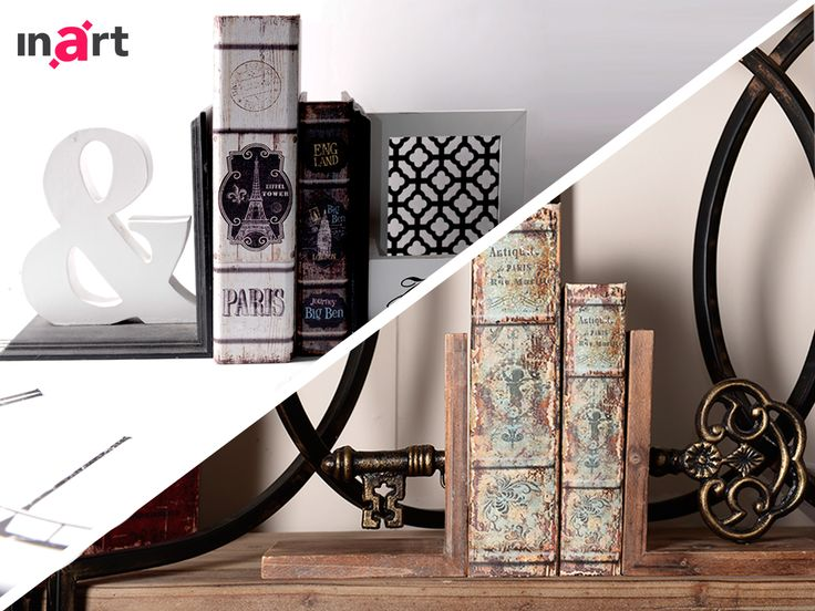 Bookends face2face! Which one will win your vote? Modern or vintage? http://bit.ly/inartBookends #Inart #HomeDecor #Decor #Decoration #Books #Reading