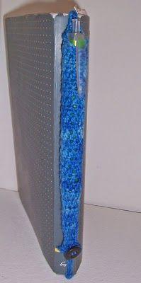 Crochet pen tube bookmark free pattern