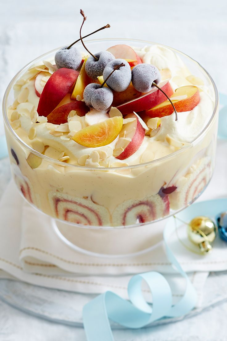 If you're looking for a last-minute centrepiece for your Christmas dessert spread, look no further than this tasty trifle. With only six-ingredients needed, you'll have it on the table in no time!