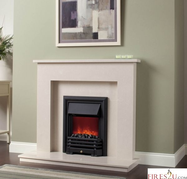 Fires And Surrounds Part - 19: The Be Modern Roma Micro Marble Fireplace Suite Consists Of 1 X Roma Micro  Marble Surround, 1 X Micro Marble Back Panel, 1 X Micro Marble Hearth, ...