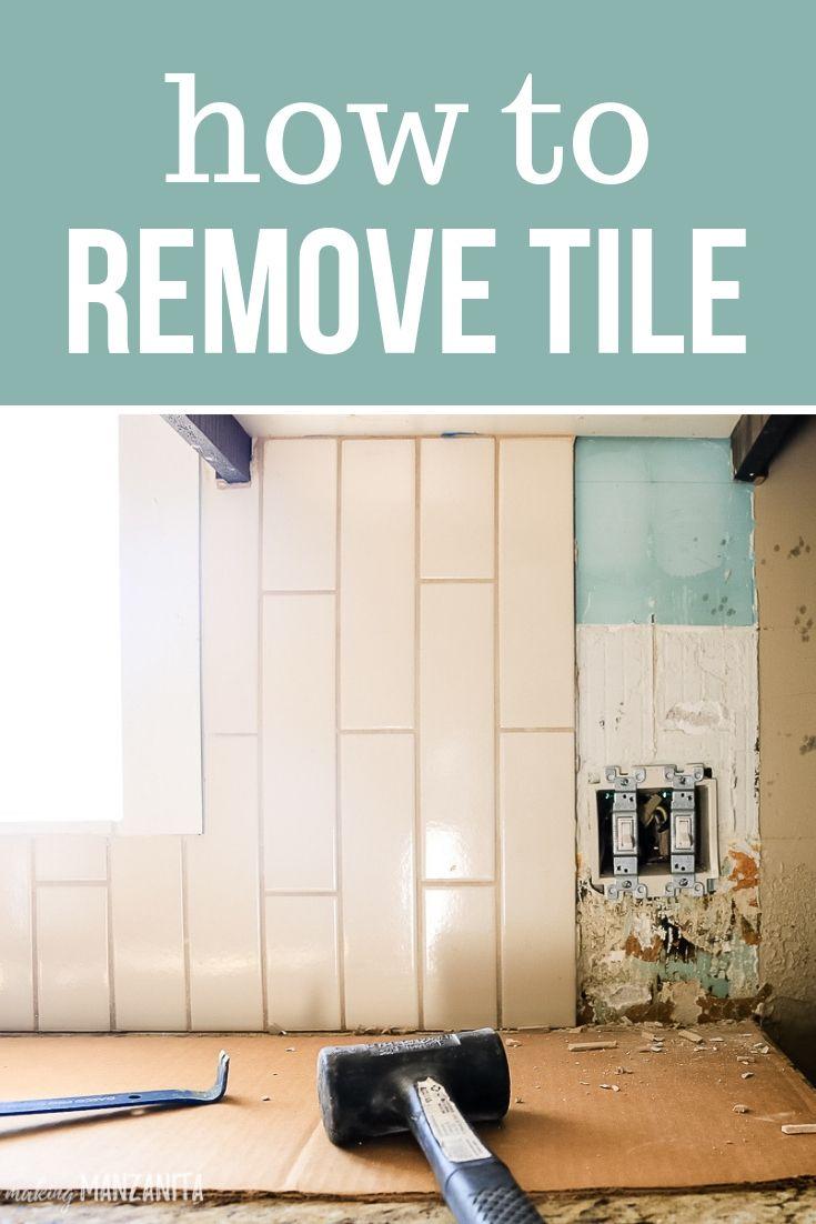 Tile Removal Kitchen Backsplash Part 1 With Images Tile