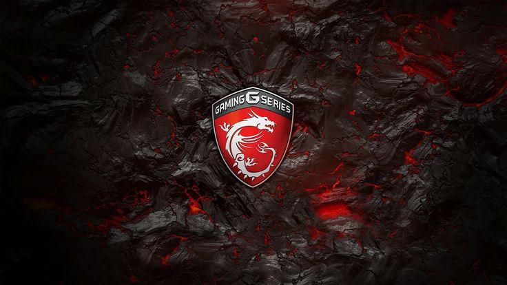 MSI Gaming G Series Logo Lava Background 4k wallpaper