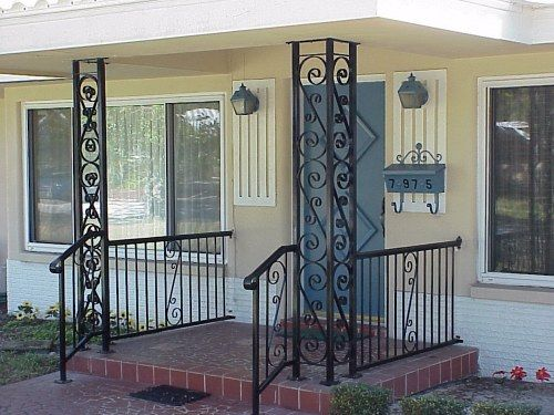 Iron Porch Columns Of Wrought Iron Look No Further