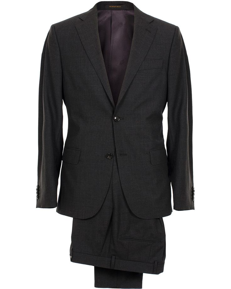 Edmund Suit Super 120's Wool Grey i gruppen Kläder / Kostymer hos Care of Carl (SA000054)
