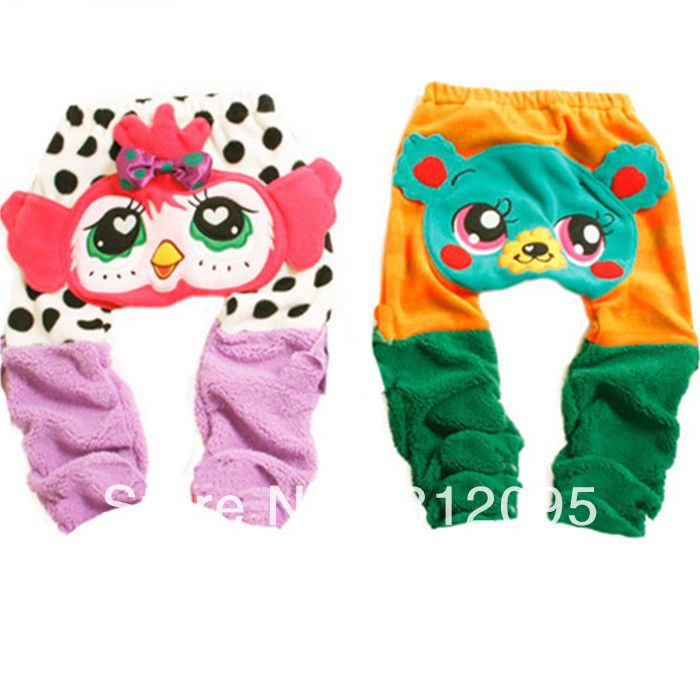 2013 winter new fashion baby trousers,Cartoon images of single cashmere baby ass pants GTJ-K0101 $36.30