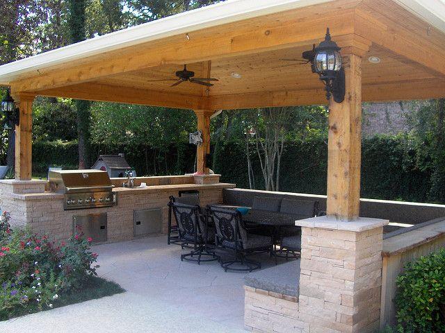 Benefits Of An Outdoor Kitchen Gazebo Video And Photos Diy Concrete Patio Small Patio Design Small Backyard Patio