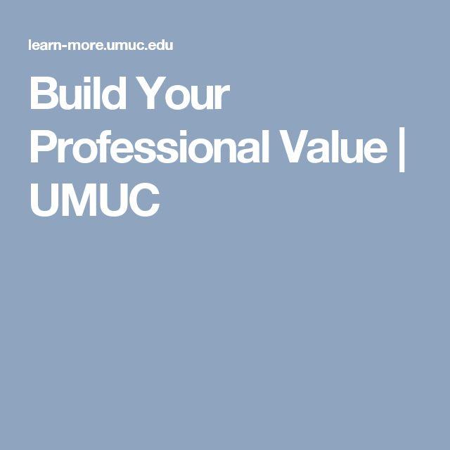 Build Your Professional Value | UMUC
