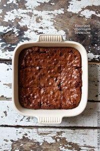 Flourless Chocolate Brownies   MarlaMeridith.com