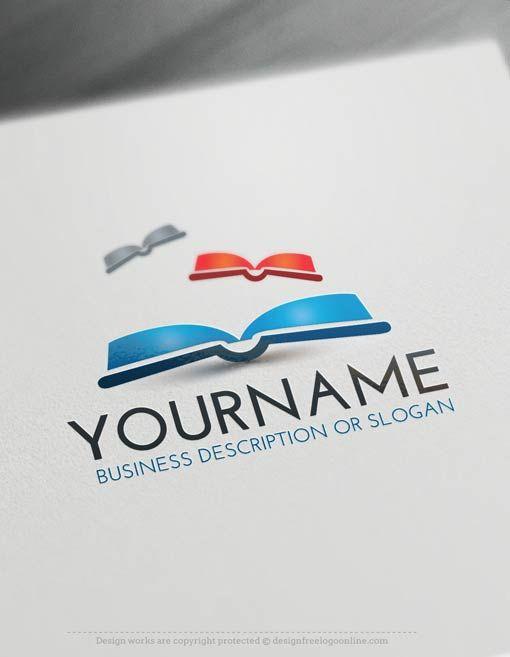 Create a Logo Free – Books Logo Template