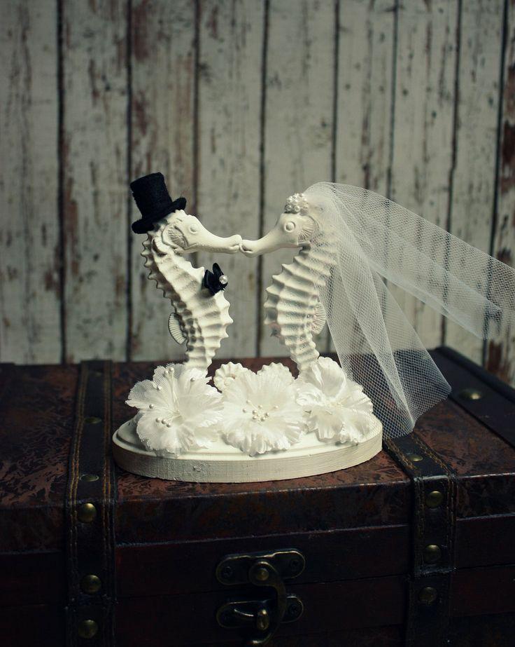 Seahorse Wedding Cake TopperSeahorse Cake by MorganTheCreator