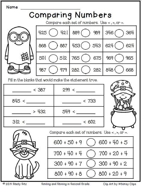halloween math for second gradecomparing numbersfree  super nd  halloween math for second gradecomparing numbersfree